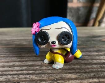 LPS Custom: Coraline Jones (Button Eyes)