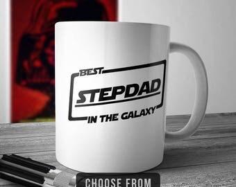 Best Stepdad In The Galaxy, Stepdad Mug, Stepdad Coffee Cup, Gift for Stepdad, Funny Mug Gift