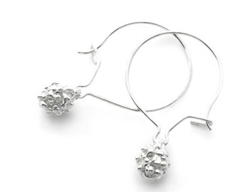 Earrings - sterling silver - bubbles - cumulus