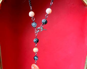 Burtonesque Pumpkin Necklace