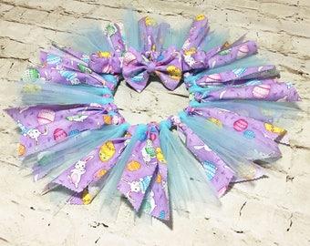 Little Fairy Set- Fabric Tutu; Easter Fabric Tutu Skirt; Fabric Tutu Skirt; Baby Tutu; Newborn Tutu; Infant Tutu; Birthday Tutu; Photo Prop