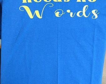 Love Needs no Words Autism Shirt Made to Order Puzzle Piece