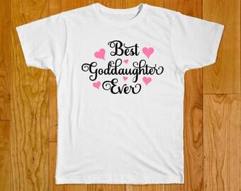 Goddaughter Gift - Best Goddaughter Ever Shirt - Gift for Goddaughter - Goddaughter Tshirt - God daughter Shirt - Godmother Baby Clothes