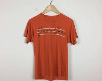 Vintage Jumpin' Jack Johnson T Shirt, Orange T Shirt Size Small, 80s Racing T Shirt