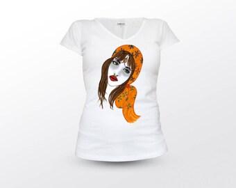 Romani Woman, Romani T-Shirt, Romani Tee, romani Shirt, Romani Top, Romani T Shirt, Romani Clothing, Romani gifts, Romani Art