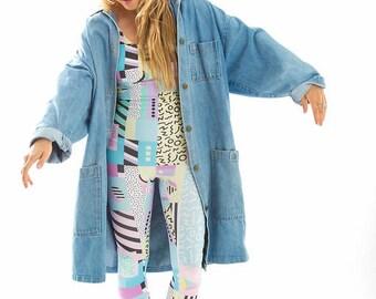 90's Block Jumpsuit-catsuit-lycra-onepiece-onesie-festival-playsuit-burningman