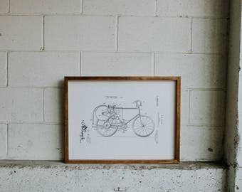 FRAMED PATENT PRINT - Bicycle