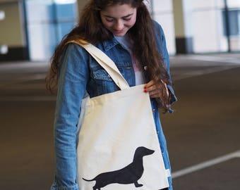 Canvas Shopper | Canvas Bag | Katoenentas Dachshund Puck