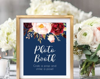 Photo Booth Sign, Wedding Photo Booth, Photo Booth Sign Printable, Grab A Prop And Strike A Pose, Printable Wedding Sign, Boho Chic, #A004
