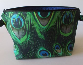 Make-up bag Peacock feather