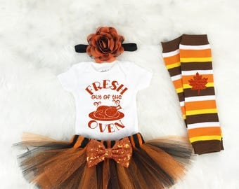 First Thanksgiving outfit girl, Thanksgiving shirt, Baby girl clothes, First Thanksgiving onesie®, First thanksgiving girl, Fall outfit