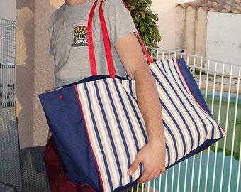 Maxi sac de plage - format familial - cabas XL