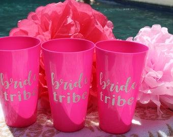 Bride Tribe Plastic Cups