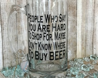 Stein, Beer Stein Mug, Beer Stein, Beer Lover Gift, Beer Glass, Beer Glassware, Mug for a Man, Mug for Dad, Mug with Saying, Beer Glass Dad