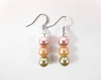 Statement Earrings for Women, Sister Gift Earrings, Mom Gift Earrings, Dainty Earrings, Dangle Earrings, Drop Earrings, Long Dainty Earrings
