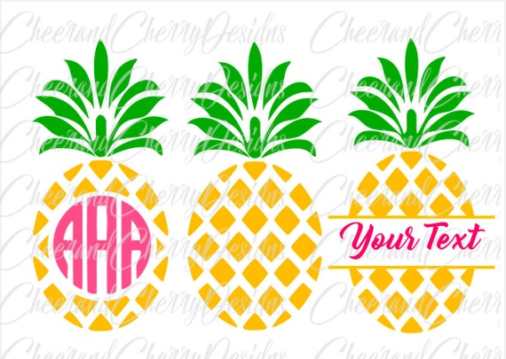 Pineapple Svg Pineapple Monogram Svg Pineapple Monogram