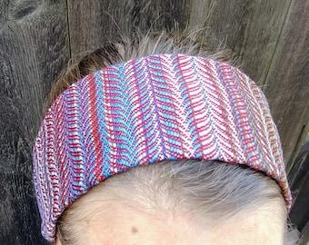 Handwoven Hand Dyed Cotton/Silk Headband