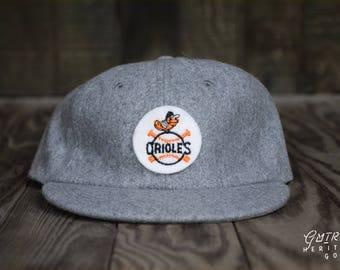 Baltimore Orioles Hat - Vintage Orioles | Orioles Baseball | Vintage Wool Hat | Orioles Fan Gift | Baltimore Orioles Gift | Retro Orioles
