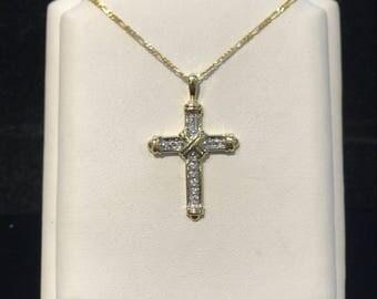 Vintage Large Cross Pendant VPL-17