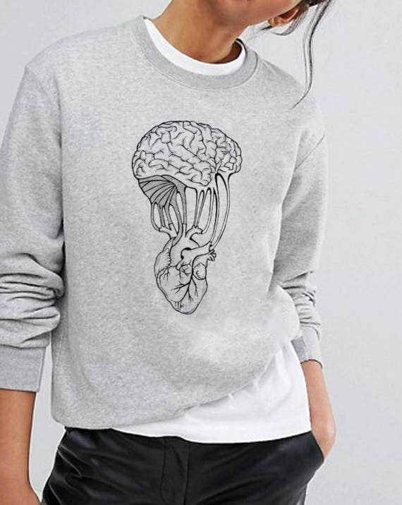 Mind and Spirit | Unisex Heavy Blend Crewneck Sweatshirt  | Graphic Sweatshirt | Pen and Ink art | Yoga shirt| Tattoo Style | ZuskaArt