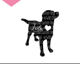 Labrador Retriever, Dog Silhouette, Labs, SVG, DXF, PNG, Circut, Silhouette