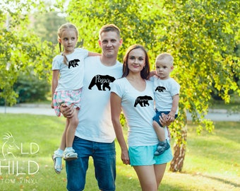 Mama Bear V-Neck T-Shirt, Mama Bear T-Shirt, Mama Bear Shirt, Mum Bear, Made to Order, Bear Family Shirts