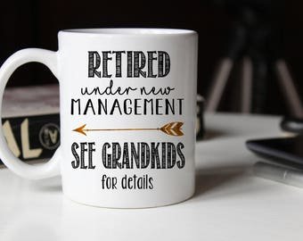 Retirement gift for grandpa, Full Time Grandpa, Retirement Gifts for Men, Retirement mug, Retirement Coffee Mug, Retirement gift ideas