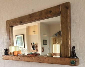 large mirror for living room wall. Large candle shelf mirror  large Mantelpiece statement Etsy