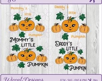 Pumpkin svg, Daddy's little Pumpkin svg, girls t shirt svg, dad svg, Halloween svg, dxf halloween, baby girl svg, scanncut, Svg file, cricut