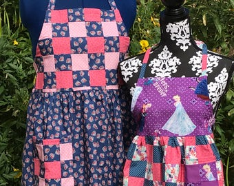 Mommy and Me Aprons w/ Patchwork Detail- Sydney