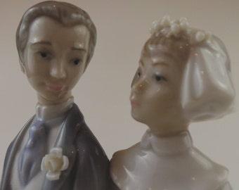 1977 Lladro Marriage/Wedding Figurine   Vintage Bride & Groom Porcelain Figurine     Retired Design   Collectible Vintage Spanish Figurines