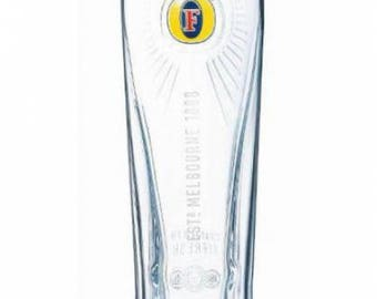 Engraved Fosters Pint Glass. Personalised with your message. Great for Dad or a Fosters lover!