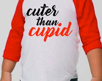 Cuter Than Cupid, Valentines Day Shirt, Toddler Valentine's, Baby Valentine, Toddler Valentine Shirt, Toddler Valentine