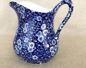 Stratfordshire Blue Calico Pitcher