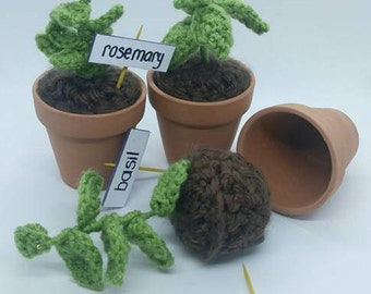 Crocheted Herb Garden