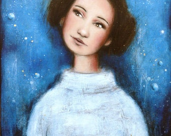 "Painting ""The Star Princess Leia"" Star Wars"