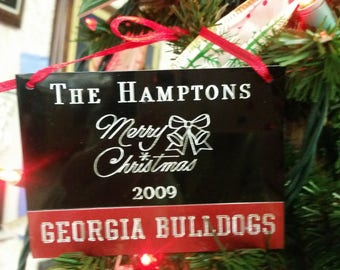 GEORGIA BULLDOGS ORNAMENT
