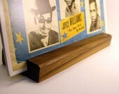 Vinyl Record Stand - Thick Walnut - Now Playing LP Display - Hand-Made in USA