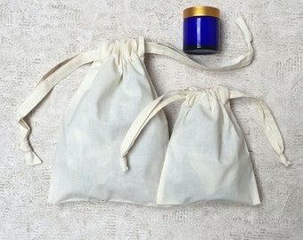 """french fabric called """"ticking pattern"""" - 2 sizes - ivory cotton bag - smallbags travel & storage"""