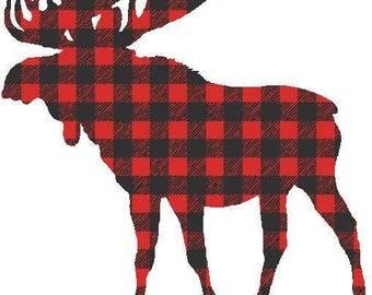 Buffalo Plaid Deer Transfer