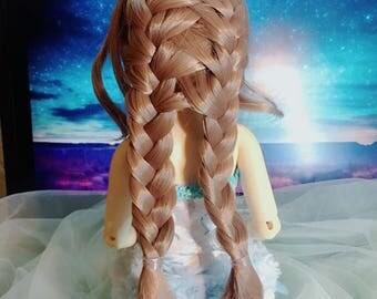 "M410:   7-8"" BJD wigs, Braided hair  for 1/4 bjd doll -  MSD minifee luts"
