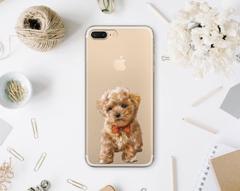 Puppy Clear Case Phone 7 iPhone Case 7 Plus Phone Personalized Photo Case X iPhone Phone Case iPhone 6s Custom Case For Samsung S6 WA1148