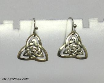 sterling silver Celtic knot earrings #117