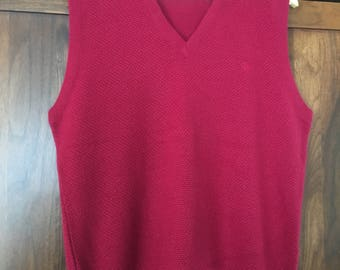 Christian Dior Sweater Vest Size Large 80's Dior Made in USA
