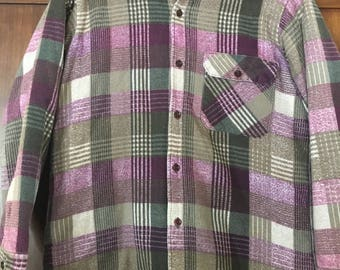Women's Insulated Flannel Shirt 90's LEE Flannel Thick Warm Size Women's Medium