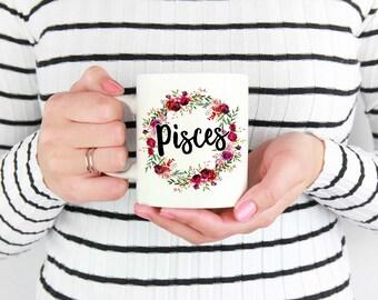 Pisces Coffee Mug, Pisces Star Sign Mug, Pisces Zodiac, Pisces Zodiac Gift, Gift for Pisces, Astrology Mug, Pisces Sign Mugs, Pisces gifts