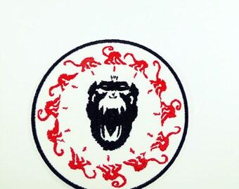 12 Monkey Black Monkey - Iron on Patch
