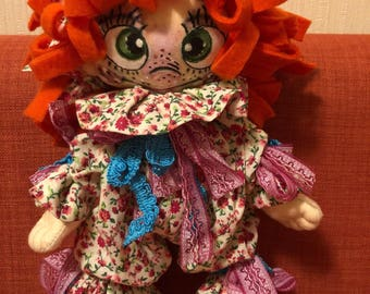 Personalized gift, red hair girl, handmade