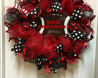 Football Wreath Etsy