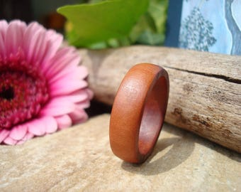 Plum Wood Ring (10 1/4) Hypoallergenic/Handmade Ring/Activate Flow/Wooden Ring/Band Ring/Wood Jewelry/Plum Tree/Tree Energy/FromHerTrees